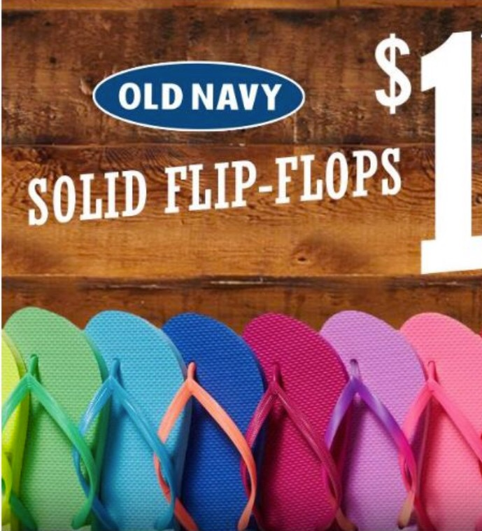 931698e4fc446 Old Navy   1 Flip-Flops ALL DAY Today